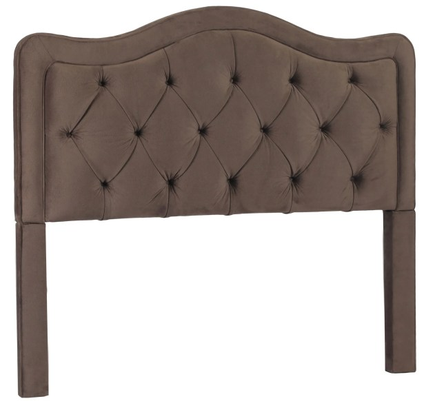 Bromberg Upholstered Panel Headboard Size: Queen, Upholstery: Chocolate
