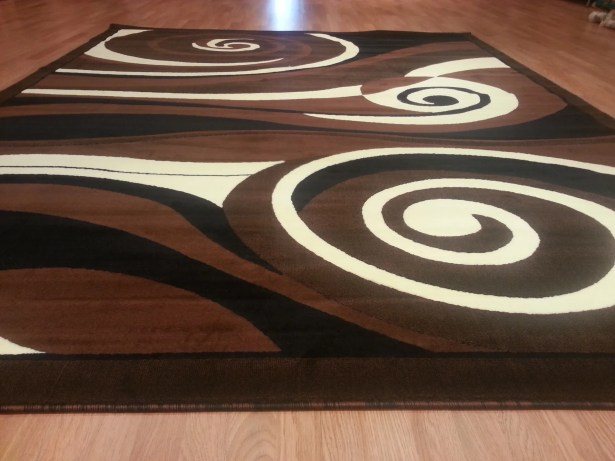 Hand-Carved Black/Brown Area Rug Rug Size: Rectangle 4' x 6'