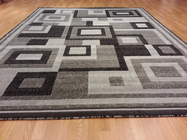 Hand-Carved Gray Area Rug Rug Size: Runner 2'7