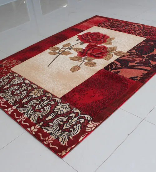 Ivory/Red Area Rug Rug Size: Runner 2' x 7'2