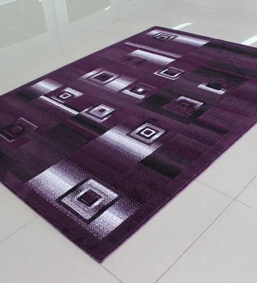 Purple Area Rug Rug Size: 5'3