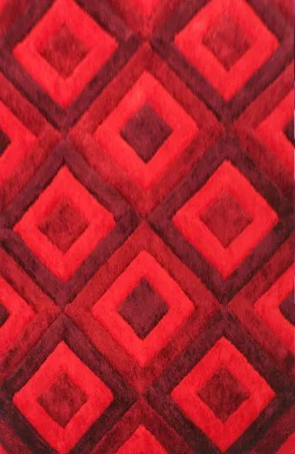 Blocker Red Area Rug Rug Size: 3' x 5'
