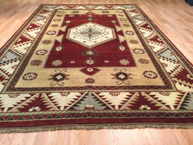 Indo Kazak Hand-Knotted Brown/Rust Area Rug