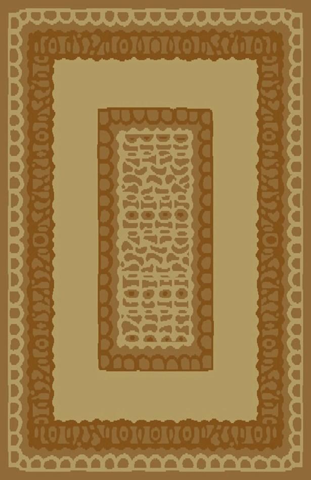 Carolyn Ivory/Brown Area Rug Rug Size: 5'3