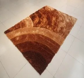 Arron Gold Area Rug Rug Size: 5'3