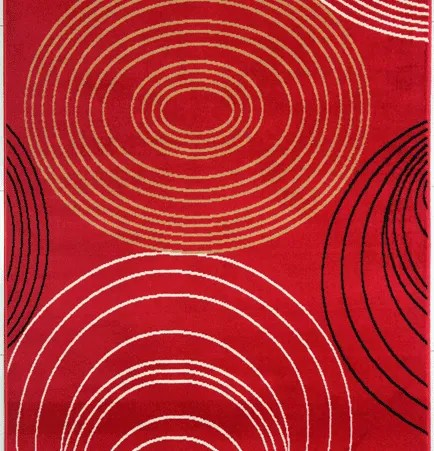 Joseluis Red Area Rug Rug Size: 7'11