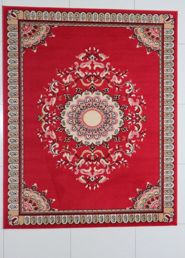 Pinehill Red Area Rug Rug Size: 5'3