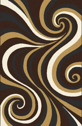 Mikkelsen Dark Brown Area Rug Rug Size: 5'3