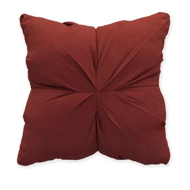 Tufted Throw Pillow Color: Canvas Henna