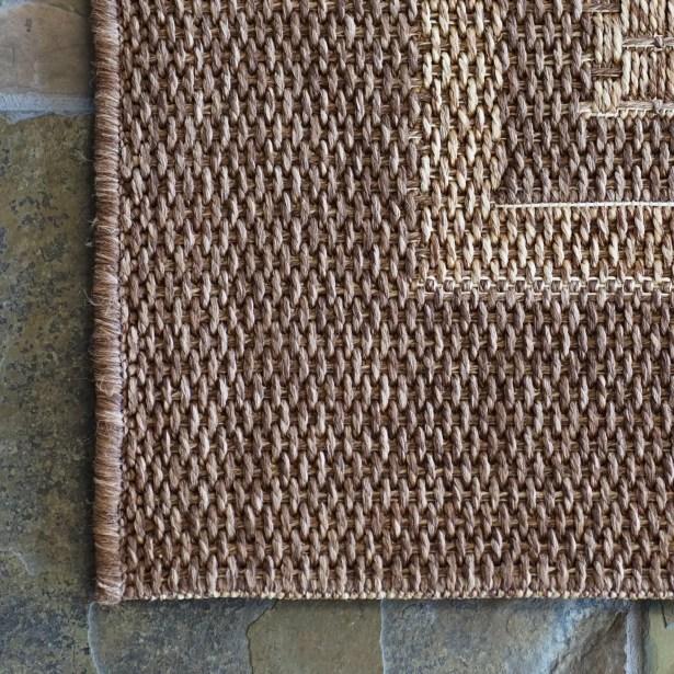 Savannah Chestnut Beige Indoor/Outdoor Area Rug Rug Size: Rectangle 7'10