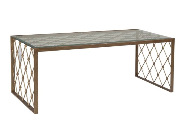 Metal Designs Coffee Table Table Base Color: Renaissance