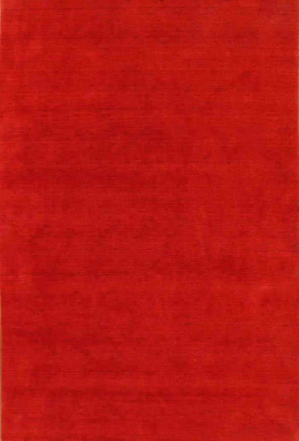 Hand-Loomed Red Area Rug