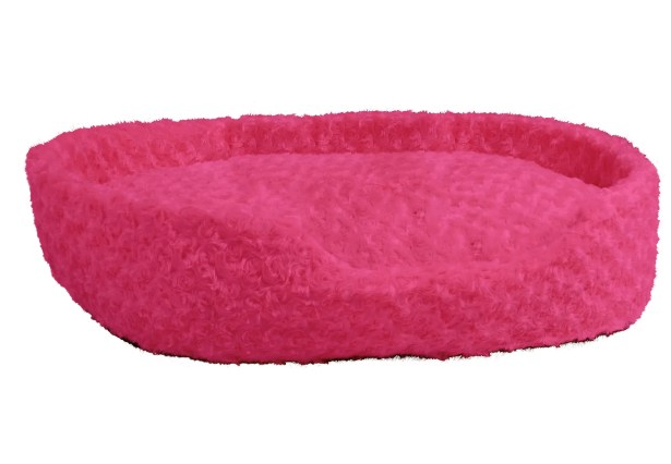 Elektra Cuddle Plush Pet Bolster with Removable Insert Color: Pink, Size: Medium (27.5