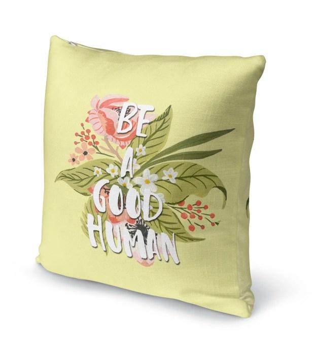 Good Human Burlap Indoor/Outdoor Pillow Size: 26