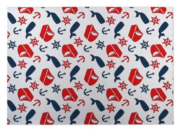 Sparks Nautical Indoor/Outdoor Doormat Mat Size: Square 8'