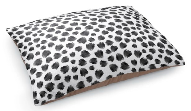 Paint Dot Pet Pillow Color: Black/White
