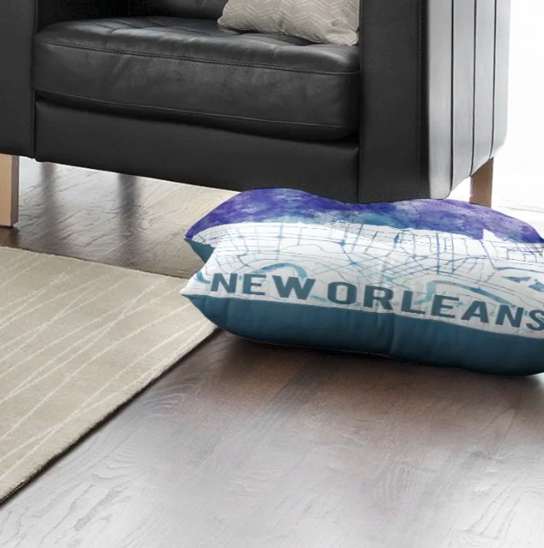 New Orleans Sunset Front Floor Pillow Size: 26