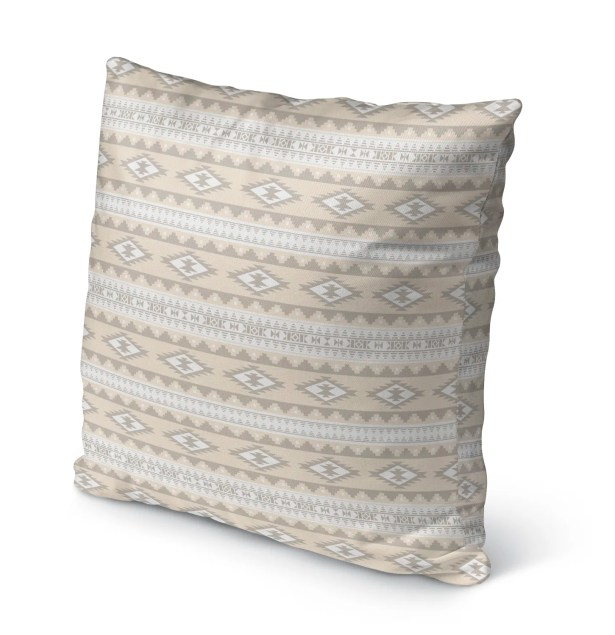 Cherokee Burlap Indoor/Outdoor Pillow Color: Tan, Brown, Size: 26