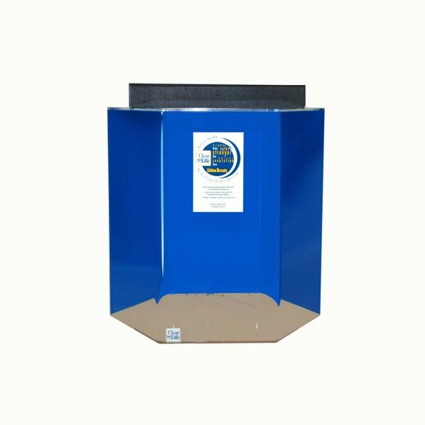 Hexagon Acrylic Aquarium Tank Color: Sapphire Blue, Size: 24