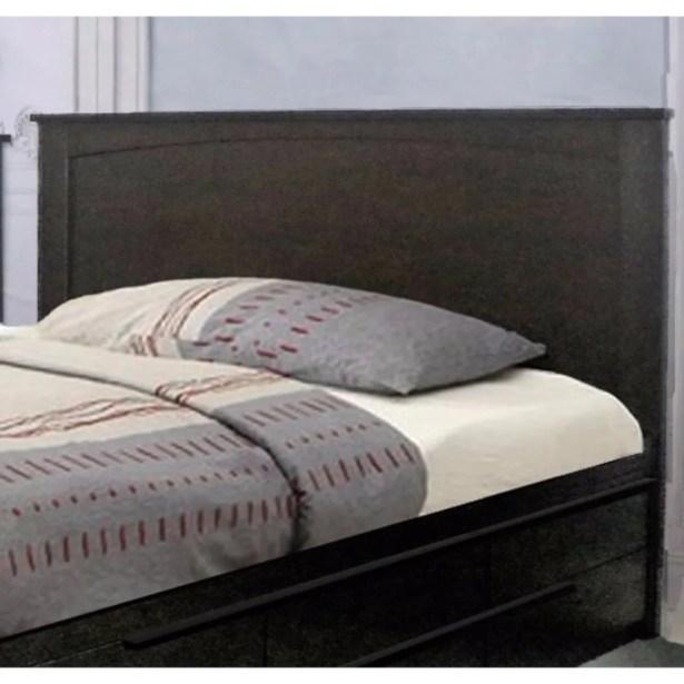 Dockins Luxurious Panel Headboard Color: Dark Brown, Size: Twin