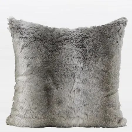 Luxury Gradient Faux Fur Throw Pillow