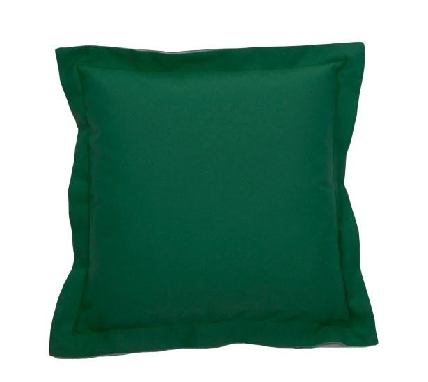 Linen Indoor/Outdoor Throw Pillow (Set of 2) Color: Emerald, Size: 22