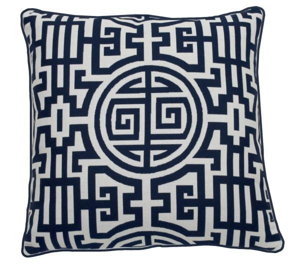 Nobu Indoor/Outdoor Throw Pillow (Set of 2) Color: Indigo, Size: 24