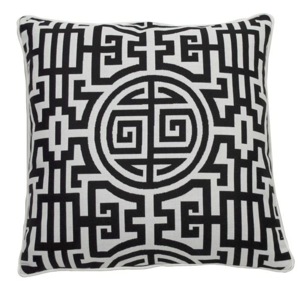 Nobu Indoor/Outdoor Throw Pillow (Set of 2) Color: Midnight, Size: 24