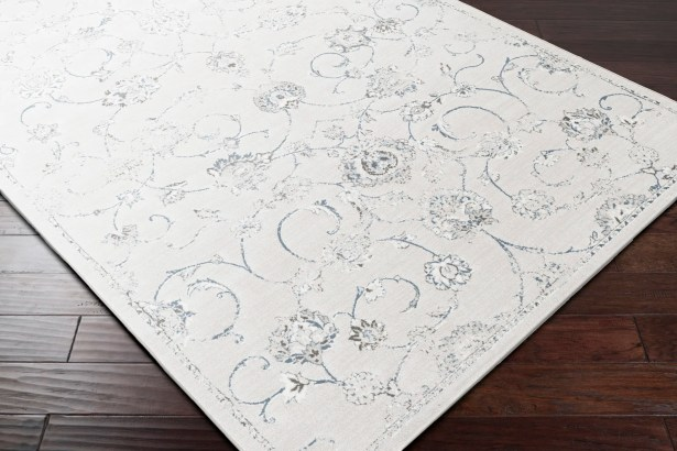 Mishti White/Gray Area Rug Rug Size: Rectangle 7'10