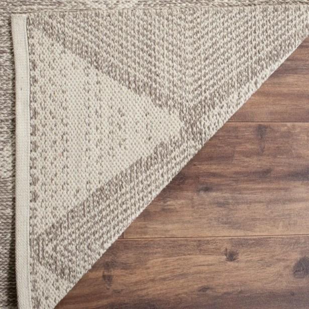 Oxbow Hand-Woven Gray Area Rug Rug Size: Rectangle 6' x 9'