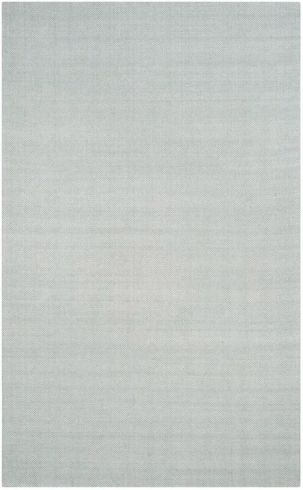 Laureldale Hand-Woven Light Blue Area Rug Rug Size: Rectangle 4' x 6'