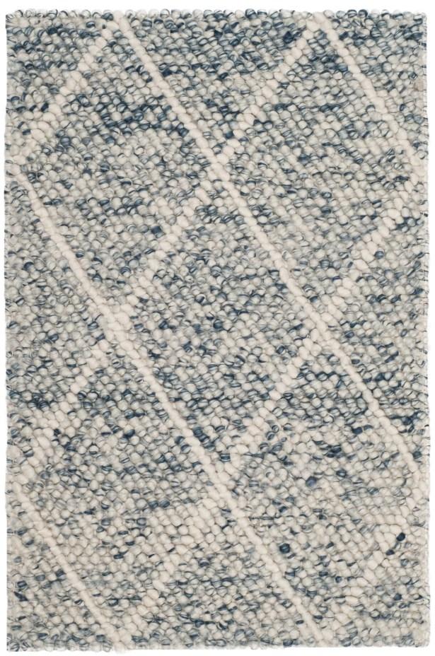 Billie Hand-Tufted Ivory/Blue Area Rug Rug Size: Rectangle 8' x 10'