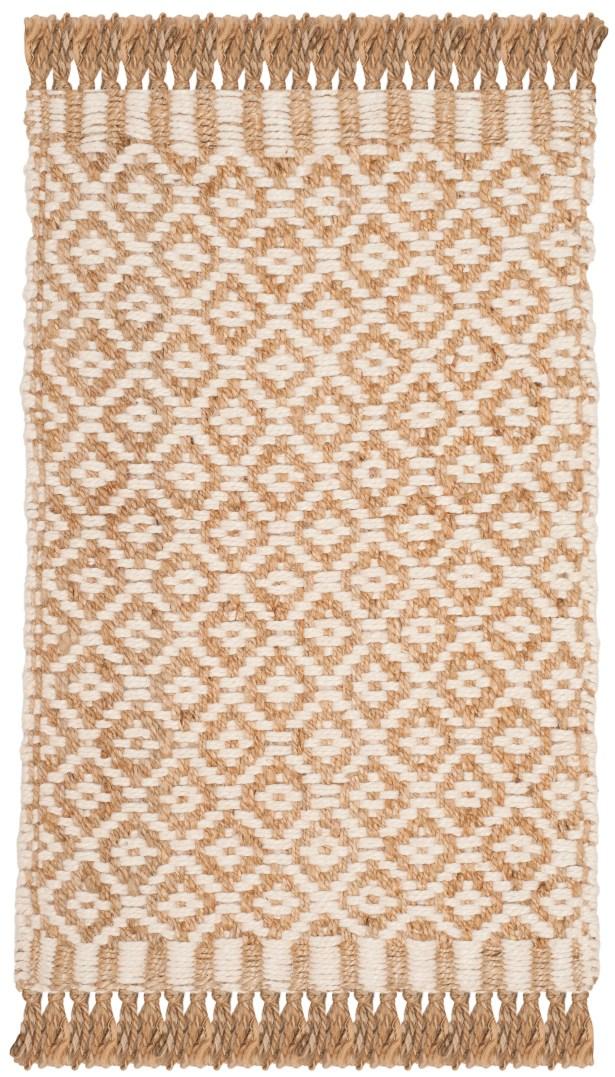 Nicholson Fiber Hand-Woven Natural/Ivory Area Rug Rug Size: Runner 2'3