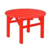 Sawyerville Chat Table Color: Bright Red