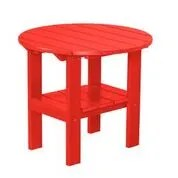 Sawyerville Round Side Table Color: Bright Red