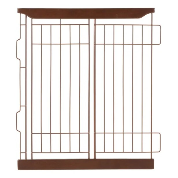 Expandable Pet Crate Divider Color: Dark Brown, Size: Small
