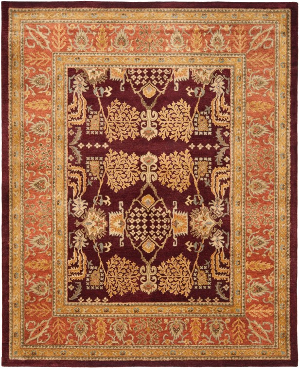 Bergama Red/Rust Area Rug Rug Size: Rectangle 8' x 10'