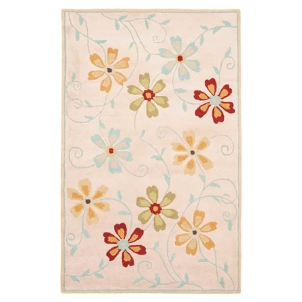 Elias Floral Design Beige / Multi Contemporary Rug Rug Size: Rectangle 8' x 10'