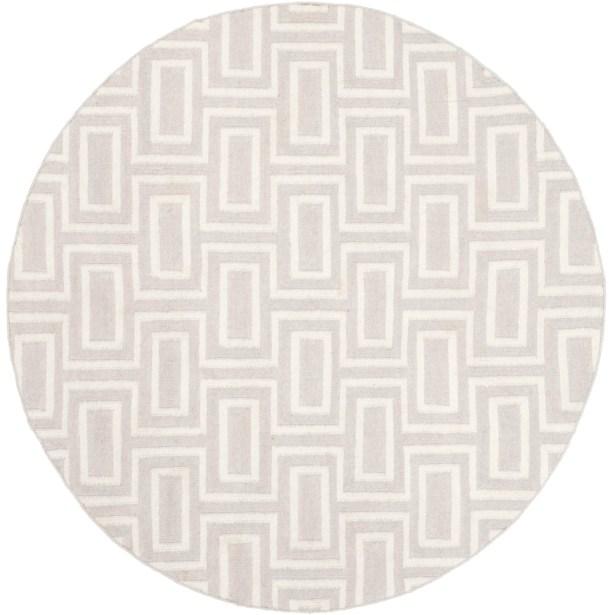 Dhurries Wool Gray/Ivory Area Rug Rug Size: Runner 2'6
