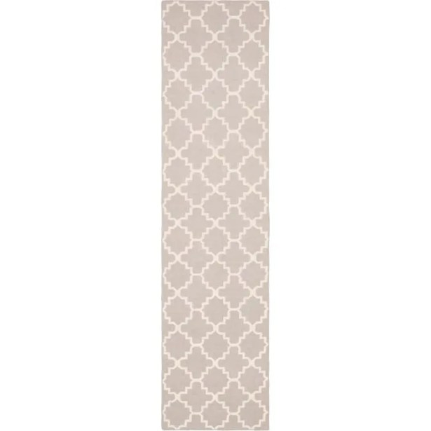 Dhurries Wool Ivory Area Rug Rug Size: Runner 2'6