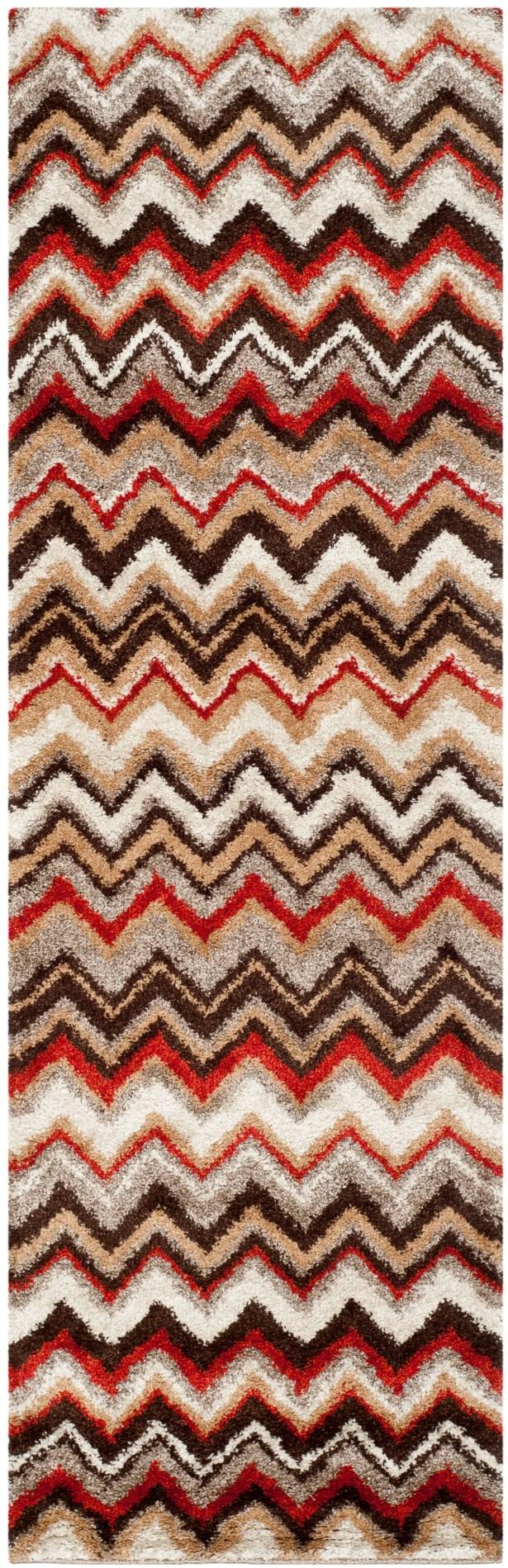 Tahoe Beige / Brown Geometric Rug Rug Size: Runner 2'3