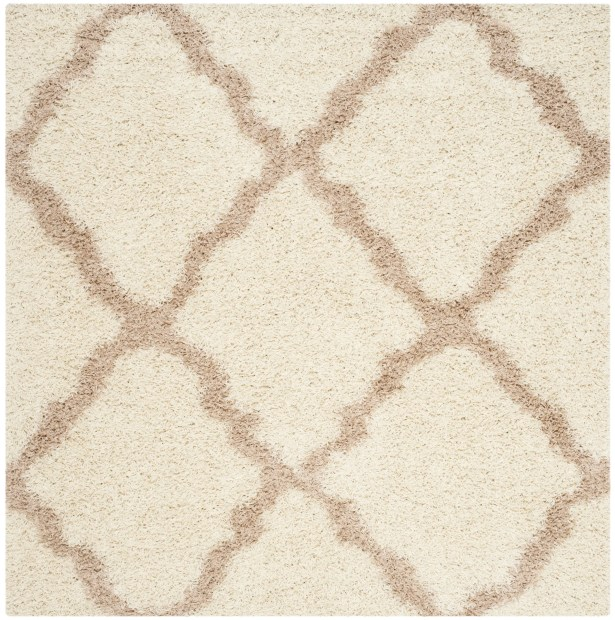 Shag Ivory/Beige Area Rug Rug Size: Square 6'