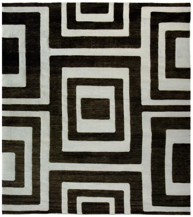 Santa Fe Silver/Black Area Rug Rug Size: Rectangle 4' x 6'