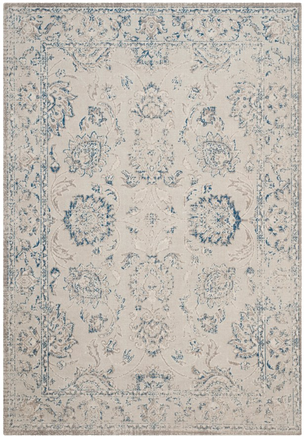 Nielsen Gray / Blue Area Rug Rug Size: Rectangle 5'1