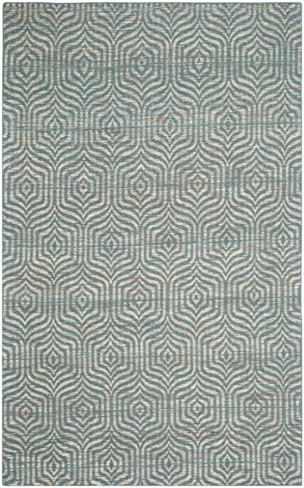 Straw Patch 200 Blue Area Rug Rug Size: Rectangle 6' x 9'