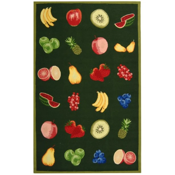 Kinchen Green Savoy Fruit Novelty Area Rug Rug Size: Rectangle 5'3
