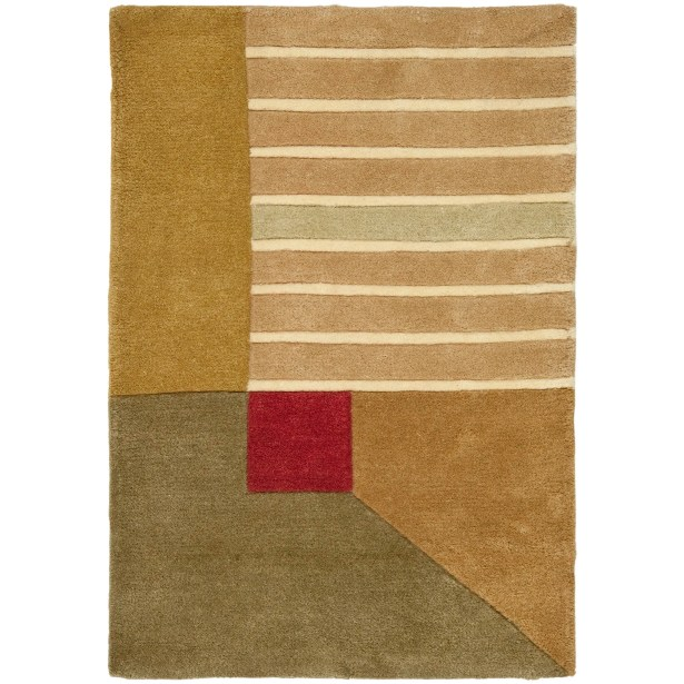 Rodeo Drive Trio Beige/Gold Area Rug Rug Size: Rectangle 3'6