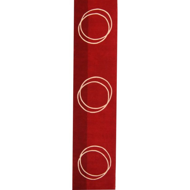 Rodeo Drive Hand-Tufted Red Area Rug Rug Size: Round 8'