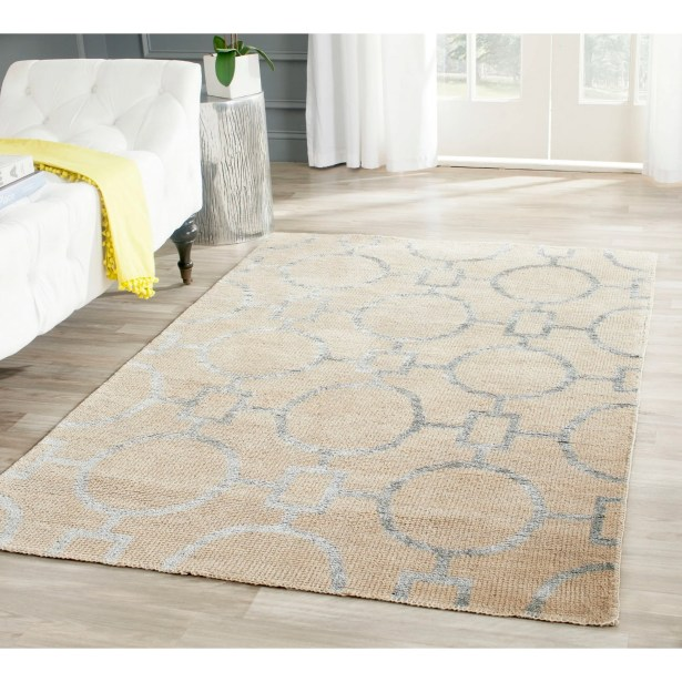 Stone Wash Hand-Woven Cotton Beige Area Rug Rug Size: Rectangle 4' x 6'