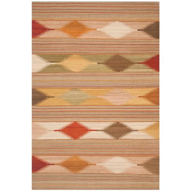 Vacaville Brown & Tan Area Rug Rug Size: Rectangle 6' x 9'